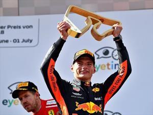 2018 F1: Verstappen levanta la copa en la casa de Red Bull