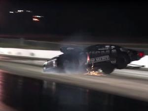 Accidente de un Camaro con 3,000 hp