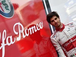 Antonio Giovinazzi acompañará a Raikkonen en Sauber para el 2019