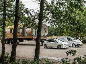 Nissan e-NV200 impone récord de capacidad de remolque para un vehículo eléctrico