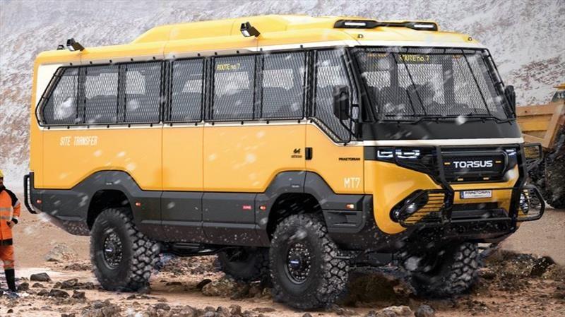 Torsus Praetorian es el primer autobús todoterreno 4x4 del mundo