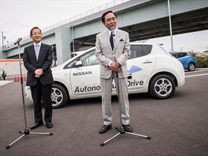 Nissan realiza prueba de conducción autónoma en una vía pública