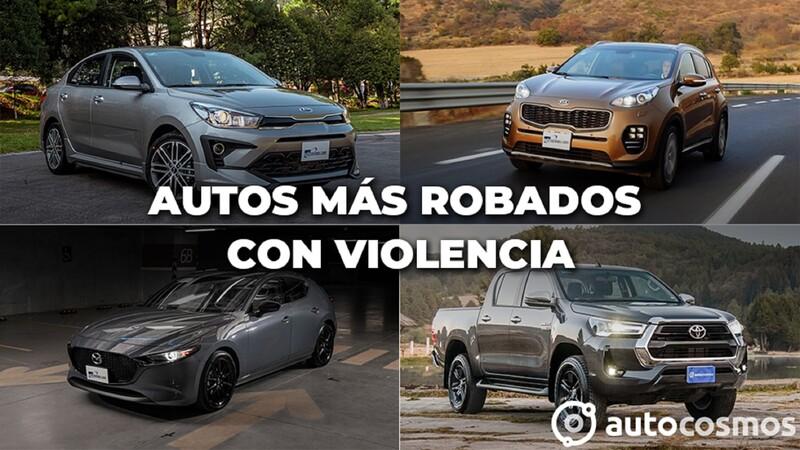 Los vehículos más robados con violencia de agosto 2020 a julio 2021 en México