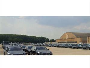 Esta es la flota de autos del rey de Arabia Saudita para su visita a Estados Unidos