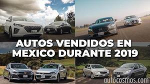 Los autos más vendidos en México durante 2019