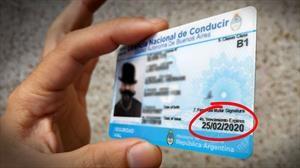 Prorrogan el vencimiento de las licencias de conducir en Argentina