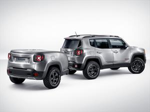 Jeep Renegade Hard Steel con un remolque muy original