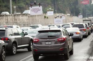 Drones de Uber vuelan sobre el tránsito de la CDMX
