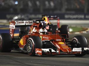 F1: Ganan los Ferrari el Gran Premio de Singapur