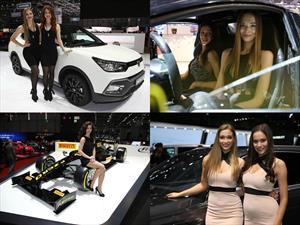 Estas son las chicas del Auto Show de Ginebra 2016