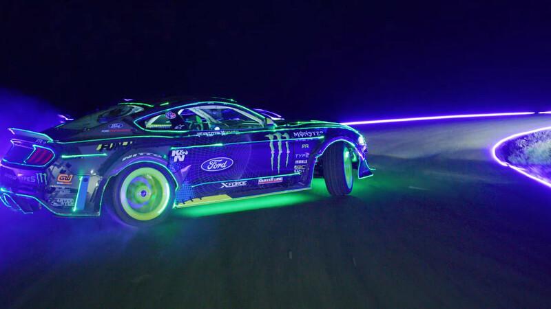 Mirá este espectacular derrape nocturno protagonizado por un Mustang RTR