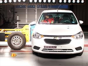 Chevrolet Aveo 2019 obtiene 2 estrellas en pruebas de LatinNCAP