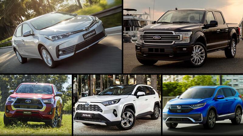 Estos son los autos más vendidos del mundo en 2020