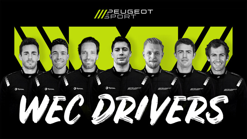 Peugeot adelanta su nómina de siete pilotos para el mundial de resistencia