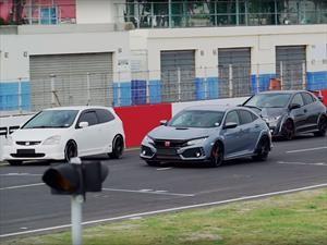 Honda hace un recorrido por las 6 generaciones del Civic Type R