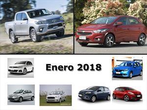 Los 10 autos más vendidos en Argentina en enero de 2018