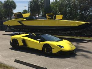 Lancha concebida con base en Lamborghini con 2,700 caballos