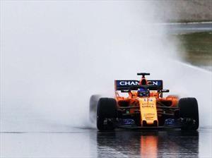 F1 2018: Alonso fue el único que se le animó a la nieve