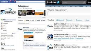 Autocosmos en Facebook y Twitter