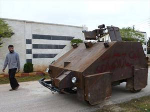 Tanque sirio blindado controlado por joystick