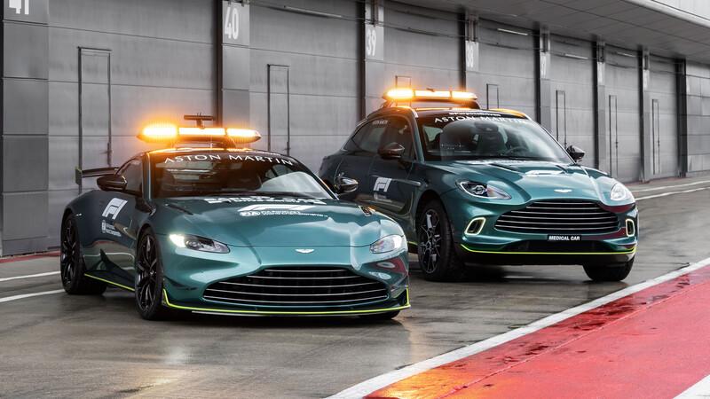 Aston Martin Vantage es el nuevo safety car de la Formula 1 en 2021