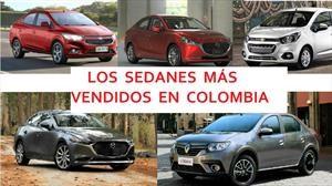 Top 20 de los sedanes más vendidos en Colombia