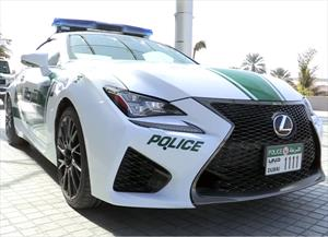Lexus RC F, la nueva dquisición de la policía de Dubái