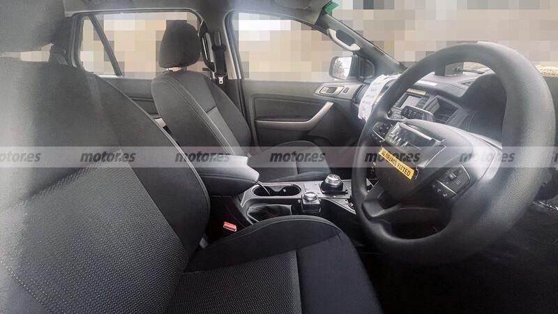 Así sería el interior de la nueva Ford Ranger