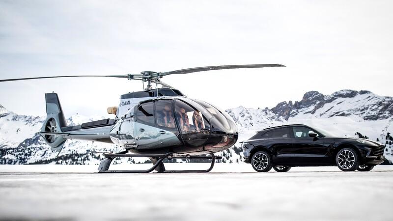 Conocé las claves del helicóptero hecho por Aston Martin