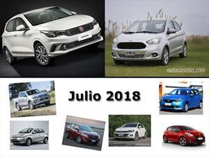 Los 10 autos más vendidos en Argentina en julio de 2018