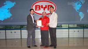 Indumotora es premiada como Mejor Servicio Técnico de BYD Auto a Nivel Mundial