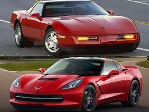 El Corvette C7 2017 es más rápido y más barato que el Corvette C4 de 1987
