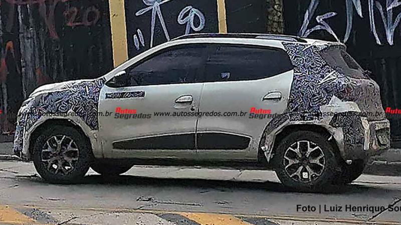 Espían camuflado al restyling del Renault Kwid sudamericano
