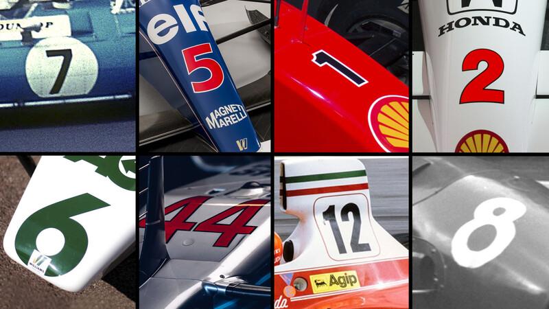 Estos son los números más ganadores de la Fórmula 1
