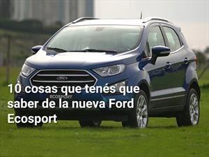 10 cosas que tenés que saber de la nueva Ford Ecosport 2.1