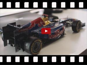 Video: Sorprendente réplica de un F1 de Red Bull hecha de papel
