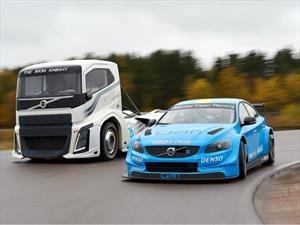 Volvo enfrenta al S60 Polestar contra el camión más rápido del mundo
