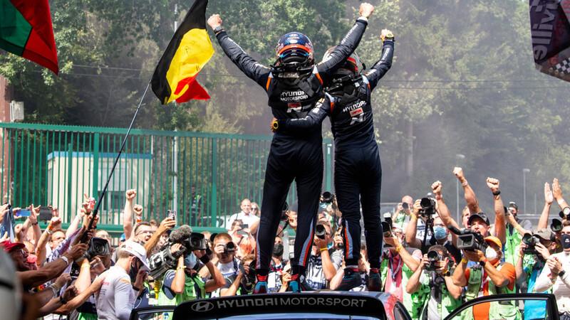 Hyundai gana el Rally de Bélgica WRC 2021
