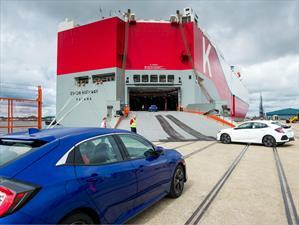 Honda inicia el embarque del Civic Hatchback 2017 a Estados Unidos