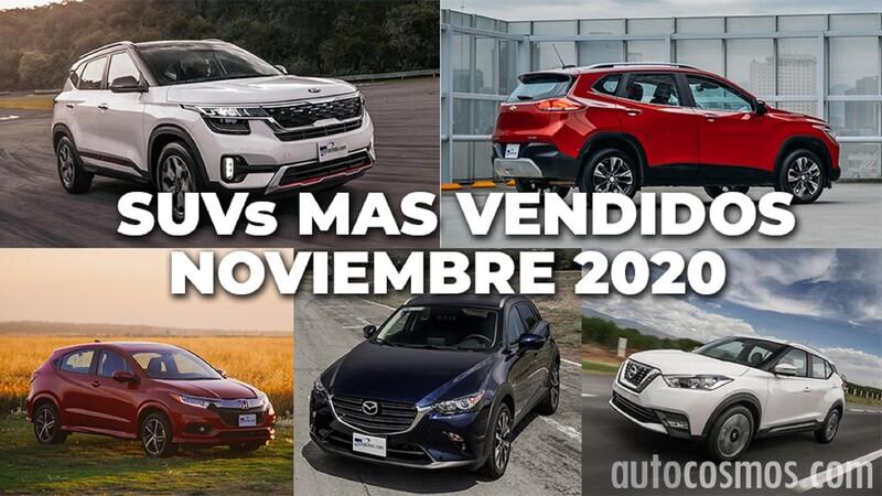 Los 10 SUVs más vendidos en noviembre 2020