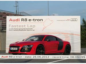 Audi R8 e-tron establece récord mundial en Nürburgring