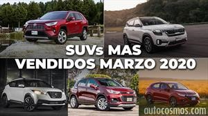Los 10 SUVs más vendidos en marzo 2020