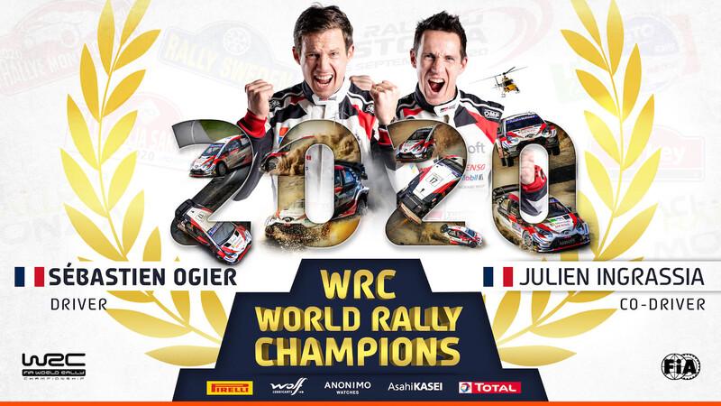 WRC 2020: Sebastien Ogier celebra su séptimo título en Monza
