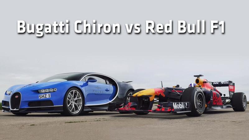 Picada de lujo entre un Bugatti Chiron y un F1 ¿Quién gana?