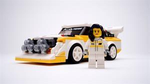 Audi y Lego rinden homenaje a la primera mujer que ganó una prueba del Mundial de Rallies