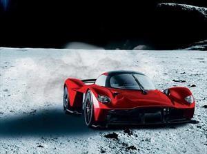 Aston Martin Valkyrie, con pintura lunar