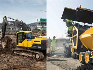 Volvo lanzó en Colombia lo último en pavimentadoras y excavadoras