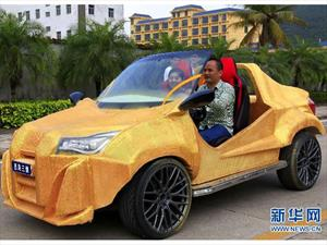 En China desarrollan el primer auto hecho con impresora 3D