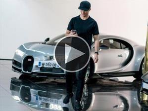 Video: Cristiano Ronaldo prueba su futuro Bugatti Chiron