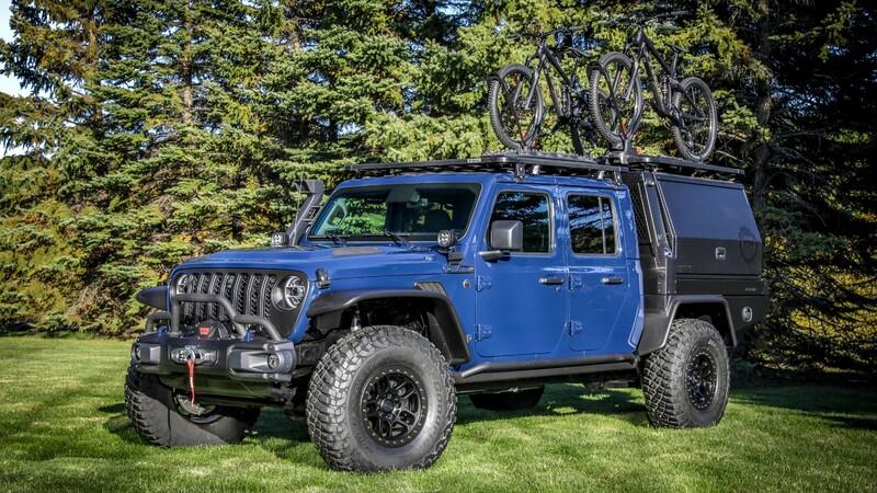 Jeep Gladiator Top Dog Concept, lista para la aventura